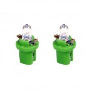 Izzó 12V műszerfalizzó LED 2db (B8,5D) zöld 58491