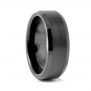 Fort Tempus Elégant anneau en céramique noire