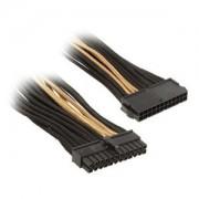 Cablu prelungitor Silverstone 24 pini ATX, 30cm, Black/Gold, PP07-MBBG
