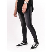 Sixth June Black Side Stripe Jeans Dark Grey 30