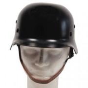 MAX FUCHS Helma ocelová WWII s koženým vnitřkem ČERNÁ