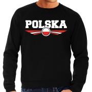 Bellatio Decorations Polen / Polska landen trui met Poolse vlag zwart voor heren L - Feesttruien