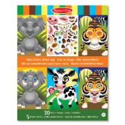 Melissa & Doug Make-A-Face Sticker Pad - Crazy Animals, 20 Faces, 5 Sheets
