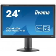 "iiyama ProLite B2480HS-B2 23.6"" Full HD TN Matt Black Flat computer monitor LED display"