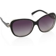 Polaroid Over-sized Sunglasses(Grey, Violet)