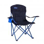 pliere scaun Spokey pescar cu undiță de lux negru-albastru
