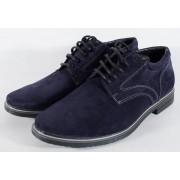 Pantofi bleumarin de barbati din velur (cod SPB01)