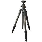 Vanguard Veo 2 235AB Trípode de Viaje de Aluminio Negro con Cabezal de Bola Veo 2 BH-50 para Sony, Nikon, Canon, Fujifilm sin Espejo, cámara compacta (CSC), DSLR