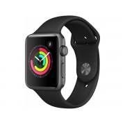 Apple Watch Series 3 Gps Cellular, 42mm Gwiezdna Szarość Z Paskiem W Kolorze Czarnym