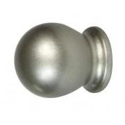 Pomoli Boccia Color Nichel 2 Pezzi Per Bastone Ø 13 Mm