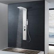 vidaXL Panel za tuširanje od nehrđajućeg čelika pravokutni