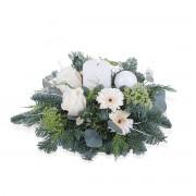 Interflora Espera - Detalhe natalício com vela branca Interflora