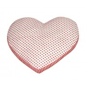 Oscar Home Shaped Pillow Heart Shape With Polka Dots Pillow Soft Toy Perfect Birthday Gift for Kids / Children - Dimension: 15x12x2 Inches Plush Pillow Toy - Stuffed Pillow Material: Cotton, Poly-fiber Filling Cushion-Red,White
