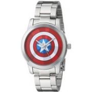 Marvel white4710 Marvel Men's W001780 The Avengers Captain America Analog-Quartz Silver Watch Watch - For Men