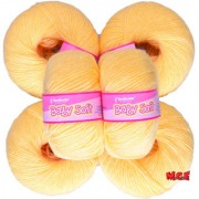 Vardhman Baby Soft.Dark Cream Pack of 14 Balls hand knitting Acrylic yarn wool balls thread for Art & craft Crochet and needle