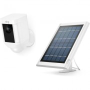 Ring Spotlight Cam Battery Solar Bundle- White