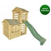Steiner Shopping (TI) Kinderspielhaus Thomas mit Turm und Rutsche - H245xL175xB332