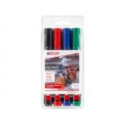 Märkpenna Edding 300, permanent, konisk, 4 färger/fp