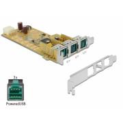 PCI Express PoweredUSB la 3 x USB 12V, Delock 89656