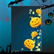 30x45cm Halloween Polyester Pumpkin Flower Flag Garden Holiday Decoration