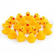 20 Pcs Cute Squeaky Rubber Duck Bath Toy Baby Kids Water Bathing Beach Float Duckies Shower Toys