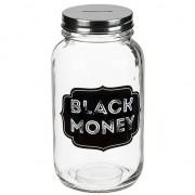 Geen Glazen spaarpot zwart geld Black Money 18 cm