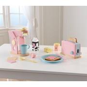 KidKraft Toy Kitchen Accessories Coffee & Toaster Set, Pastel