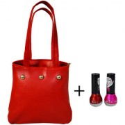 Adbeni Good Choice Combo Makeup set Nail Polish Hand Bag Pack of 2 Pcs