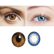 TruOm Blue Honey Colour Monthly(Zero Power) Contact Lens
