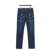 【73%OFF】ダイヤ柄 ウォッシュデニム ネイビー 29 ファッション > メンズウエア~~パンツ