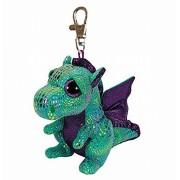 Plus Breloc Ty 8.5cm Boos Dragon Verde