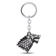 Optimus traders HBO Game of Thrones House Winter is coming Stark Head 3D Key Chain - silver