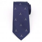 bărbaţi mătase cravată (model 360) 8432 în albastru culoare cu model