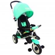 Triciclo para Bebe de lujo Llantas de Aire tipo carriola de 6-5 años Aqua