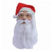Merkloos Kerstman masker met baard