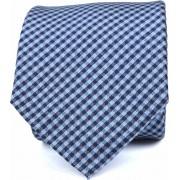 Krawatte Seide Dessin Blau Karo K82-4 - Blau