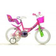 """Bicicleta copii DINO BIKES 144R TRO, Roti 14"""", Trolls"""