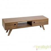 Comoda TV design clasic, din lemn de salcam, Amara 50729 SAP