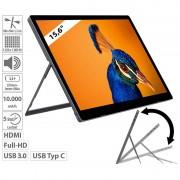 "auvisio Mobiler Akku-Full-HD-IPS-Monitor, 39,6 cm (15,6""), USB Typ C, HDMI"