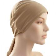 Hijab LIGHT BROWN TIE BACK BONNET Abaya Cap Women Men Head Bandanna Helmet Under Scarf Stole Kitchen Pregnancy Chemo