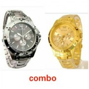 Rosara Combo Watches Golden Silver For Man By SanghoHub 6 month warranty