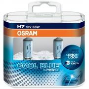 Becuri auto H7 12V 55W 12V PX26D Osram Cool Blue Intense , Set 2 becuri efect Xenon 64210CBI-HCB Kft Auto