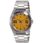 Fastrack Quartz Orange Dial Mens Watch-3110SM04