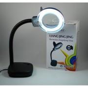 Lampa de birou cu lupa si neon circular