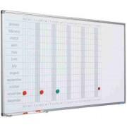 Planner anual, 60 x 120 cm, profil aluminiu SL, SMIT