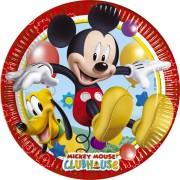 Piatti Grandi in Cartoncino Topolino Mickey Mouse da 23 cm - Piatti per Festa di Topolino Playful Mickey Mouse