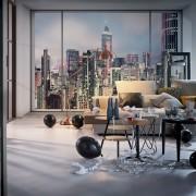 Fototapet Urban - Apartament New York Vlies