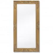 vidaXL Стенно огледало, бароков стил 100х50 см, златисто