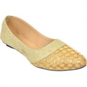 Altek Plain Stylish Gold Ballerina For Women (foot-1397-gold-p150)