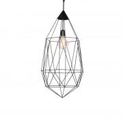 QAZQA Industrialna lampa wisząca ciemnoszara 75cm - Diamond